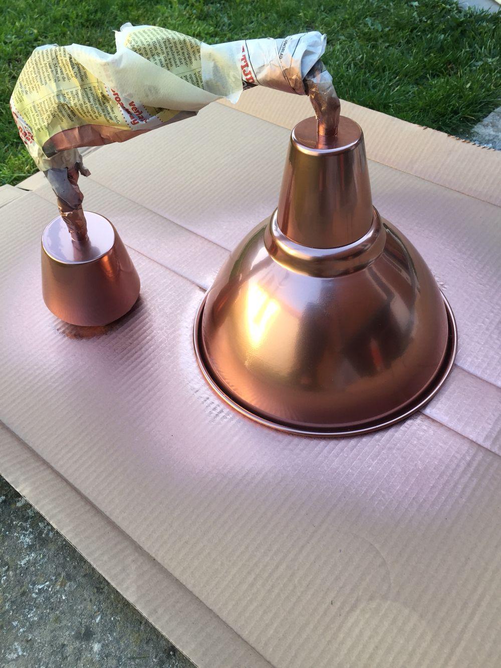 Diy Spray Painted Copper Ikea Foto Lamp Copper Spray Paint Copper Lamps Lamp