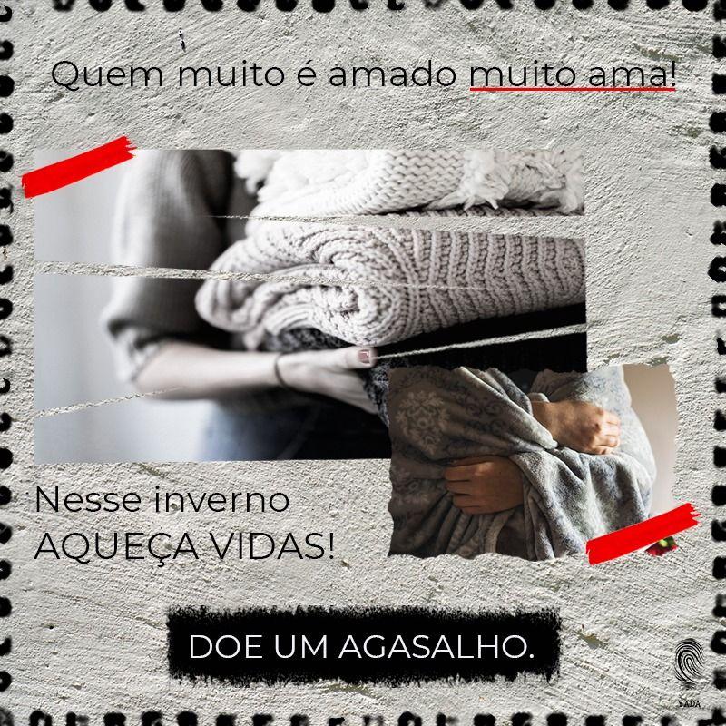 No mês Julho vai acontecer nossa primeira AÇÃO YADA. Você pode promover o #AMOR aquecendo a vida de alguém nesse inverno. Todos os agasalhos e cobertores em bom estado arrecadados até o dia 05/07/2019 serão destinados a pessoas em condição de rua em Betim-MG.  #doadoresdeamor #razoesparaacreditar #amor #doadorvoluntário #amoraoproximo #voluntariado #ajudavoluntária #acaoyada #doadoresdeamor #ajudeoproximo  #betim  #yadacompany #amoremaçoes #empatia #comunhão #campanhadoagasalho2019