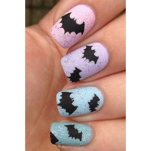 33 Amazingly Boo-tiful Halloween Nail Art Ideas ❤ liked on Polyvore featuring beauty products and nail care