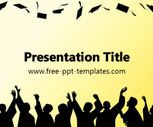 The free Graduation PowerPoint Template is a yellow template with a ...