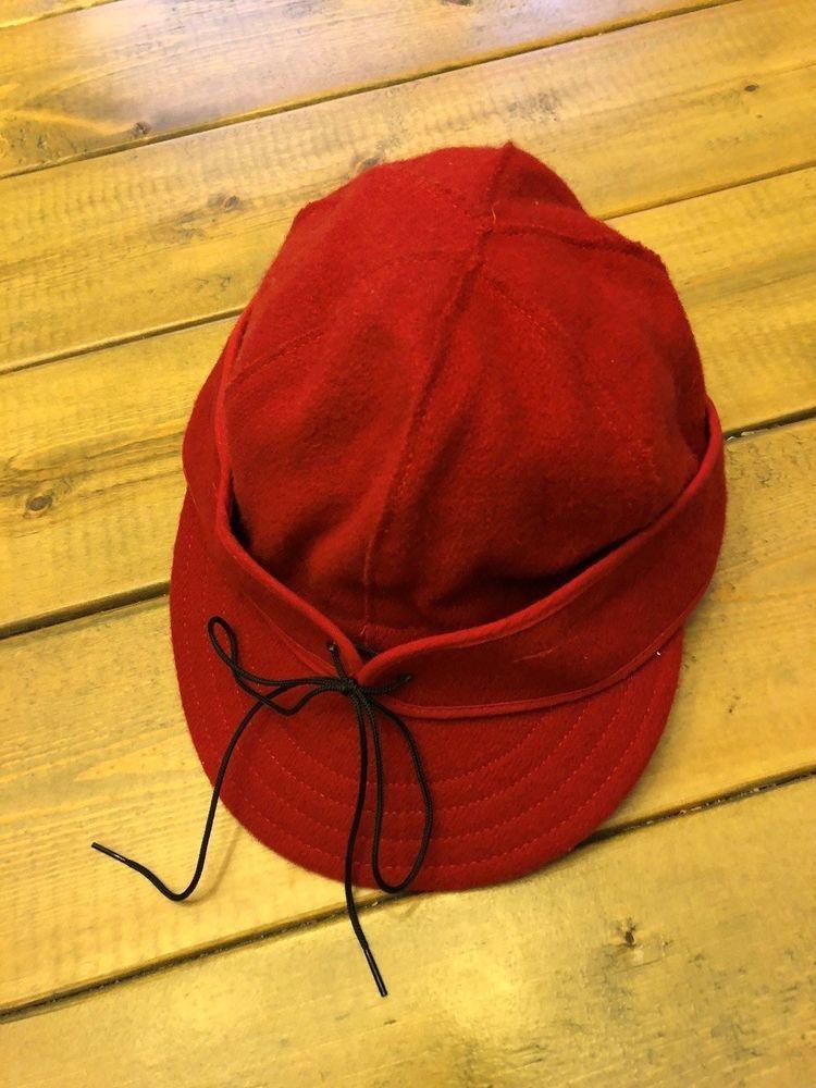 Vintage Red Original STORMY KROMER Blizzard Kap Cap Hat Wool Sz 6 7 8 Made  USA 9df9c7060fe6