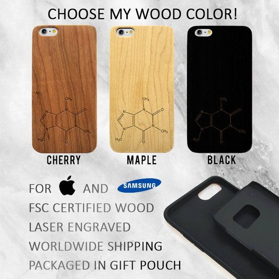 Coffee Compound Wood Phone Case, iPhone XR, Xs Max, iPhone 8