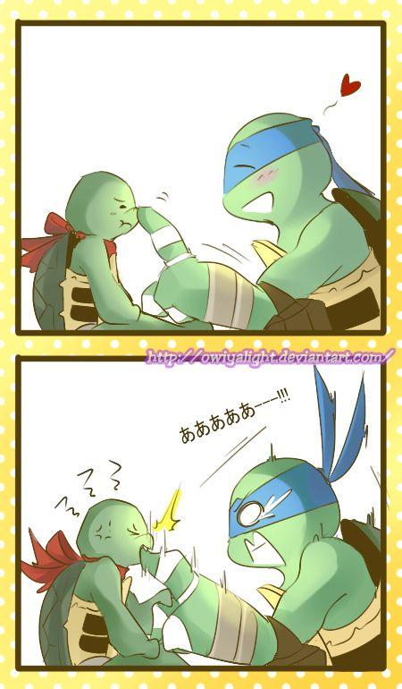 Leo and baby Raph by owiyalight on DeviantArt | Ninja turtles