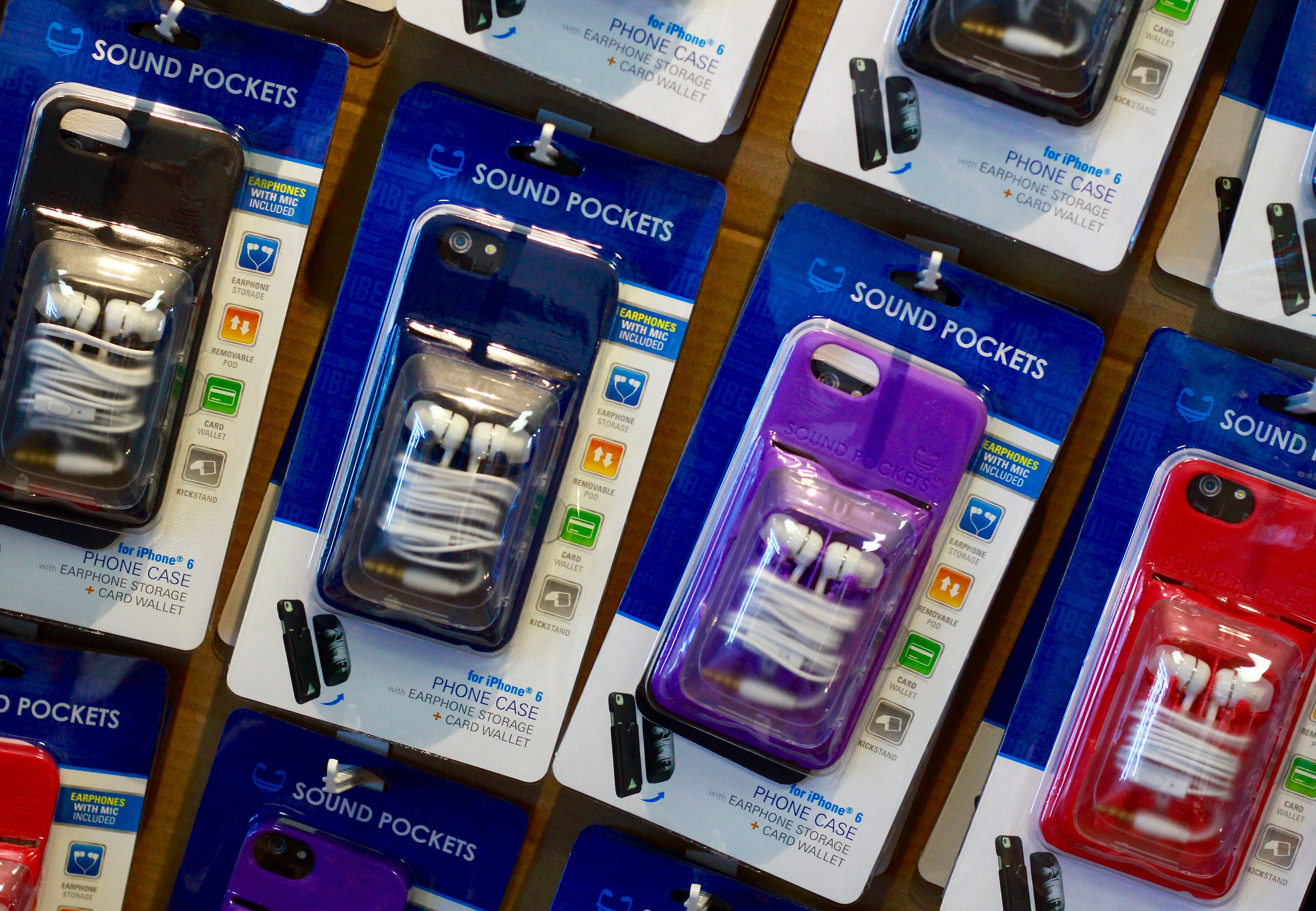 The Sound Pod, invented by the husband of our store owner.  Compleat Lifestyles is proud to offer this progressive new phone case!