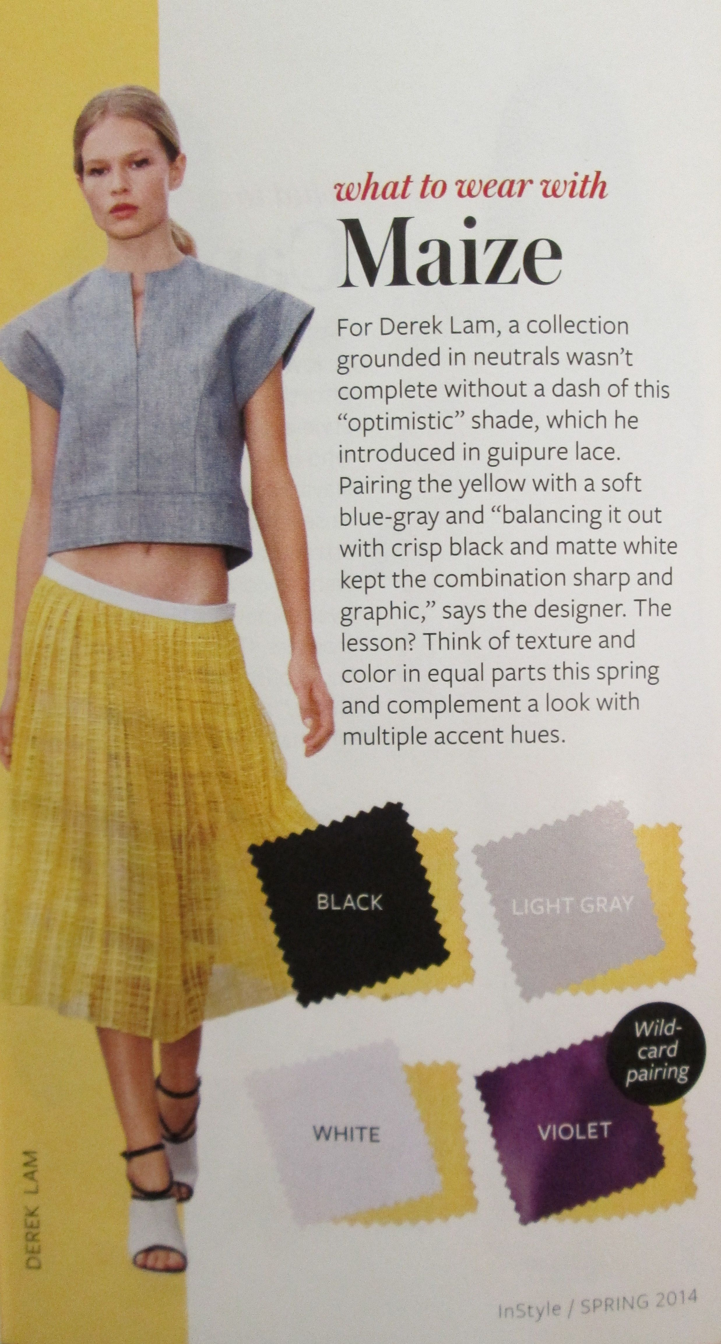 Instyle color crash course maize outfit tips pinterest instyle color crash course maize nvjuhfo Image collections