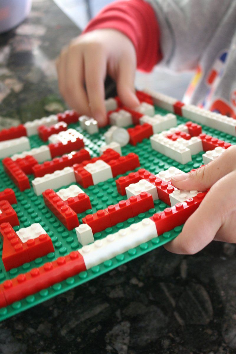 Christmas Marble Maze LEGO STEM Activity for Kids | Makerspace ...