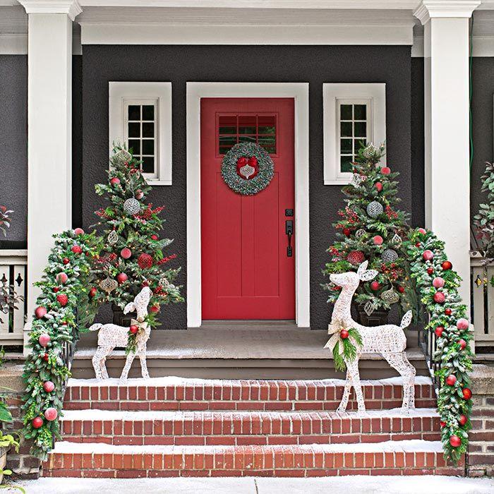 46+ Front porch xmas decorations inspirations
