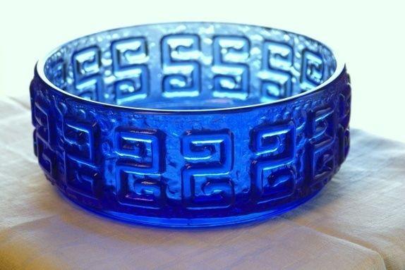 Blå vintage bolle/skål fra Finland
