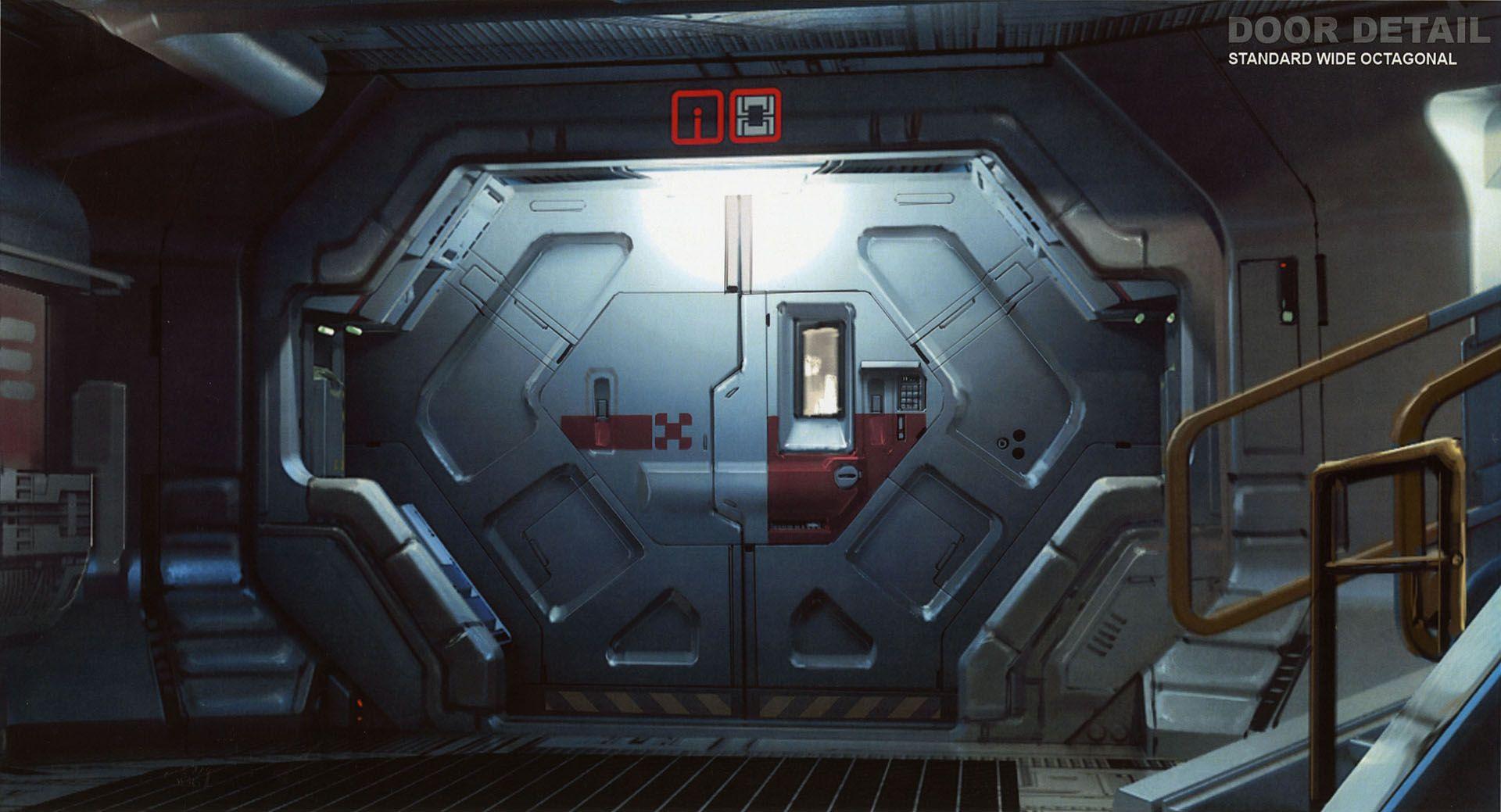 prometheus door hatch corridor sci fi spaceship science fiction environments pinterest. Black Bedroom Furniture Sets. Home Design Ideas
