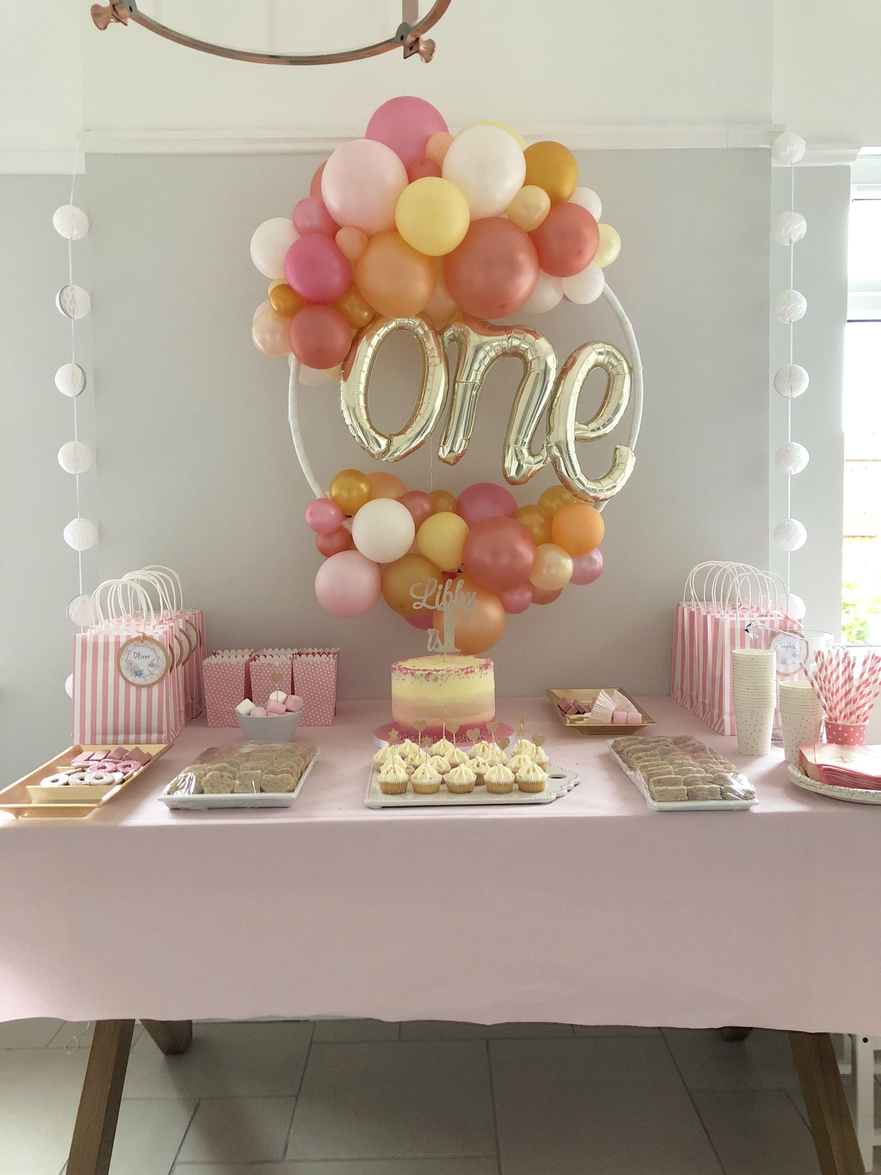 1st Birthday Girl 1st Birthday Balloons One Balloon 1st