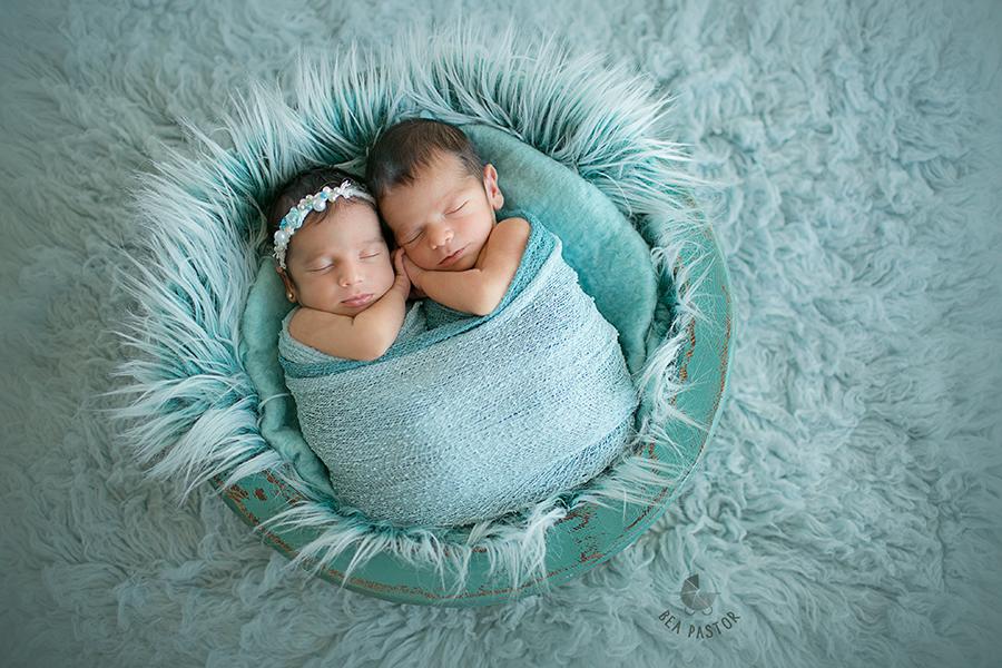Fotos de mellizos recién nacidos VALENCIA – Vera y Luca