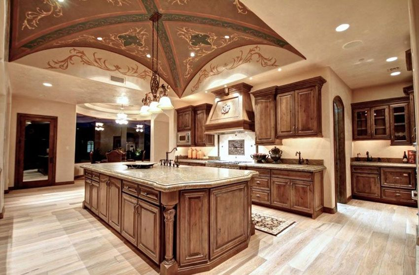 Elegant Tuscan Kitchen Ideas Decor Designs Marble - Kitchen dome ceiling