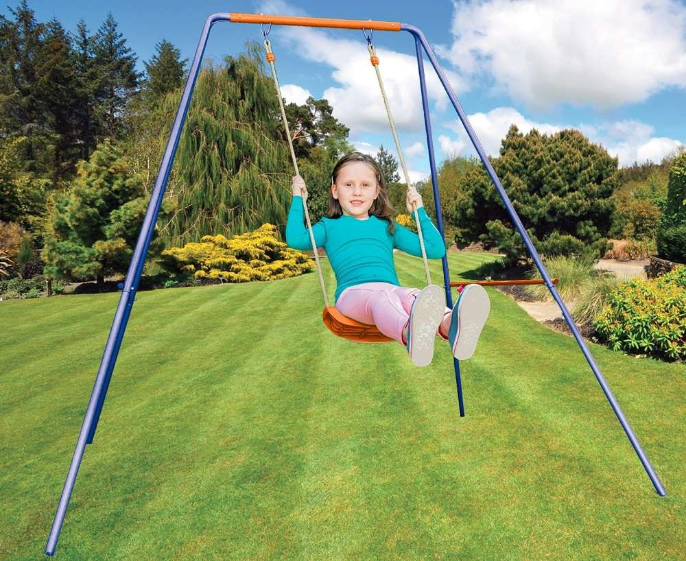 Swing to new heights with this awesome single swing from Kidsgro. Features: - Easy to set up - Complete swing set - Great outdoor fun - Suitable age: 3 years and older - Weight: 8.1kg - Dimensions: 133cm x 17.5cm x 11cm R599 at Takealot. Shop online >>http://bit.ly/2blR4So  #Kidsgro #kids #swing #outdoor #play #fun #summer