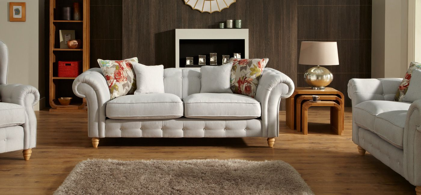 The Linea Chester 3 seater sofa combines sumptuous fabric designs, fibre  filled seat interiors and two wood foot options. Buy online now at House of  Fraser