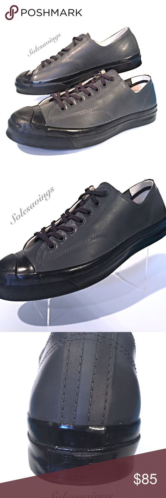 faf454b09a19 Converse Jack Purcell Signature Ox Black Mens New Converse Jack Purcell  Signature Ox New with Original