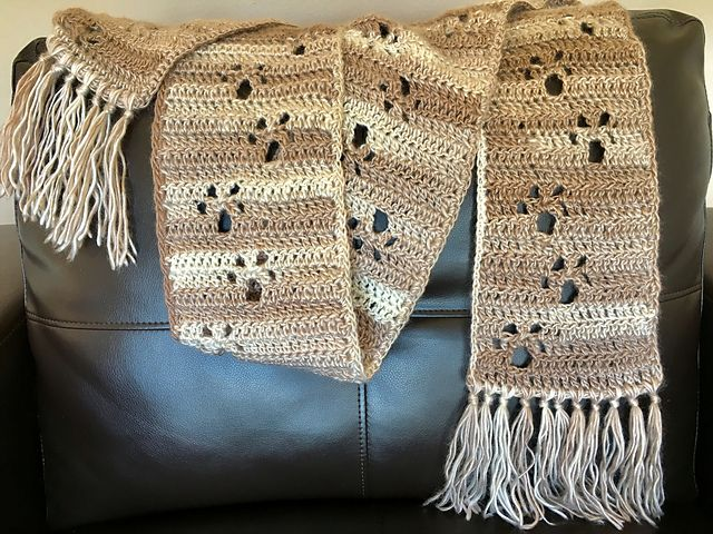 Ravelry: Meandering Paw Prints pattern by Amy B Stitched   crochet ...