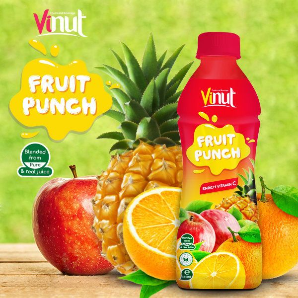 250ml VINUT Fruit Punch Pure Orange Juice Drink | VINUT Fruit Juice