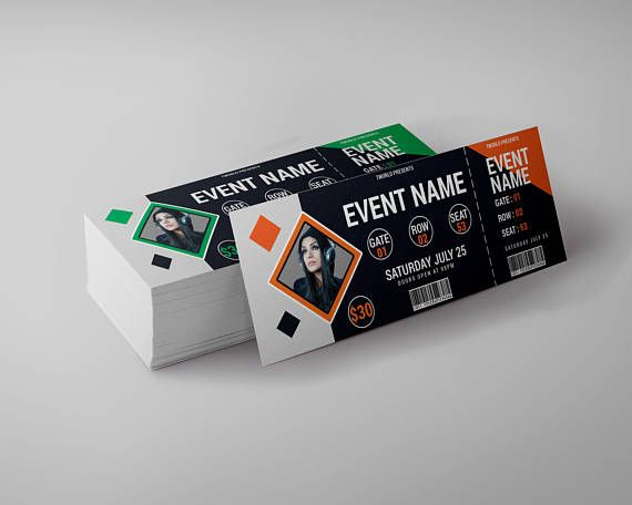 Event Ticket Design Template tickets club ticket concert | FLYER ...