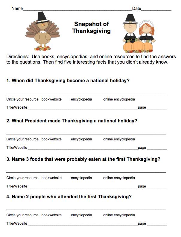 Thanksgiving Writing Assignments {Freebie} | November Teaching ...