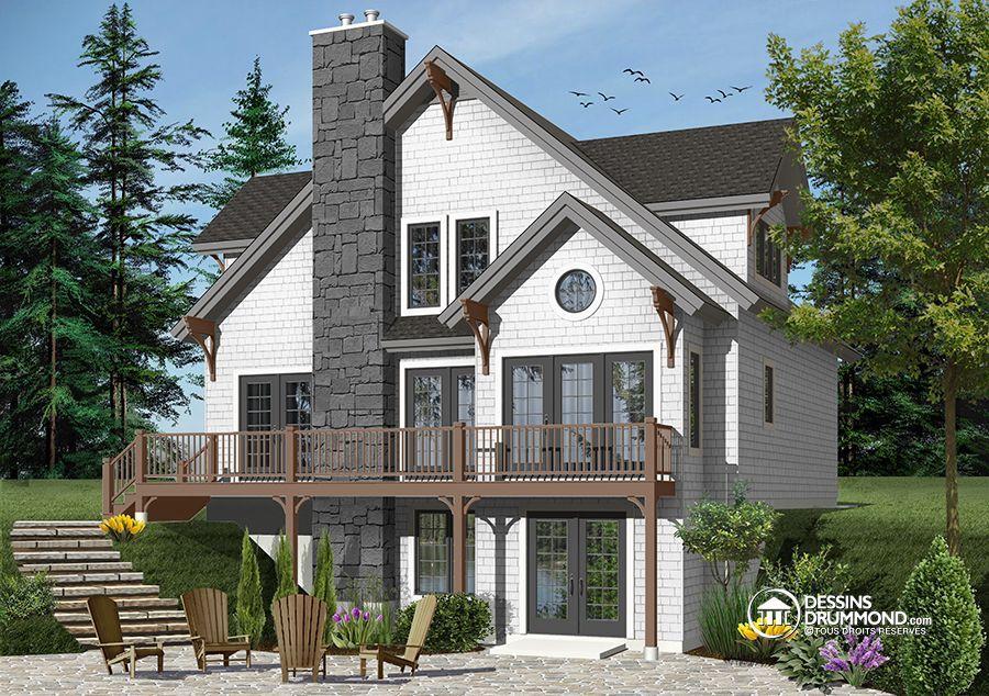 Détail du plan de Maison unifamiliale W2957-V1 Maison craftsman et