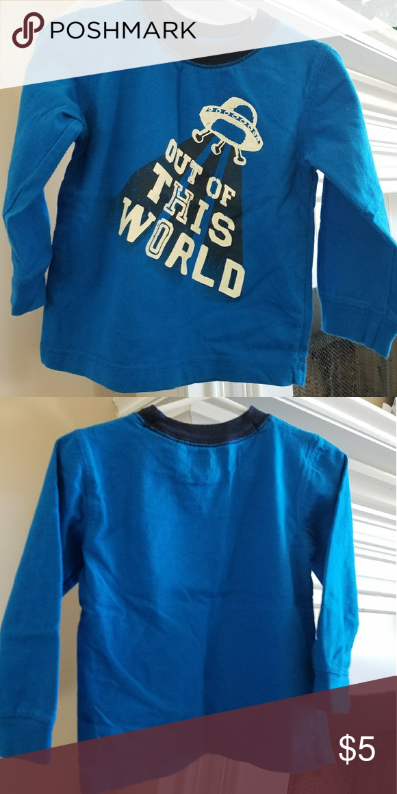 Gymboree 18-24 months boy tee Out of this world long sleeve, soft cotton tee - glow in the dark letters - your kid will love this tee??. Gymboree Shirts & Tops Tees - Long Sleeve