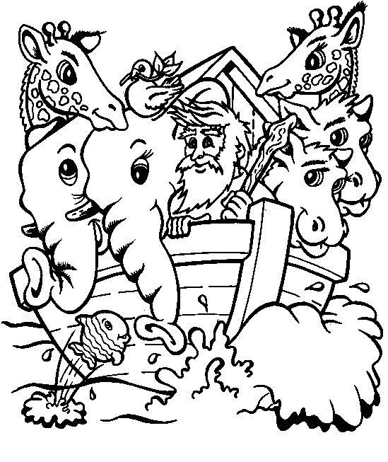 Arca Di Noe Da Colorare.Animali E Noe Sull Arca Di Noe Disegni Da Colorare Animali Disegni