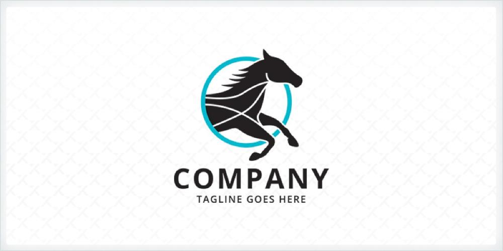 Black Horse Logo Template By Zixlo In 2020 Logo Templates Horse Logo Black Horse