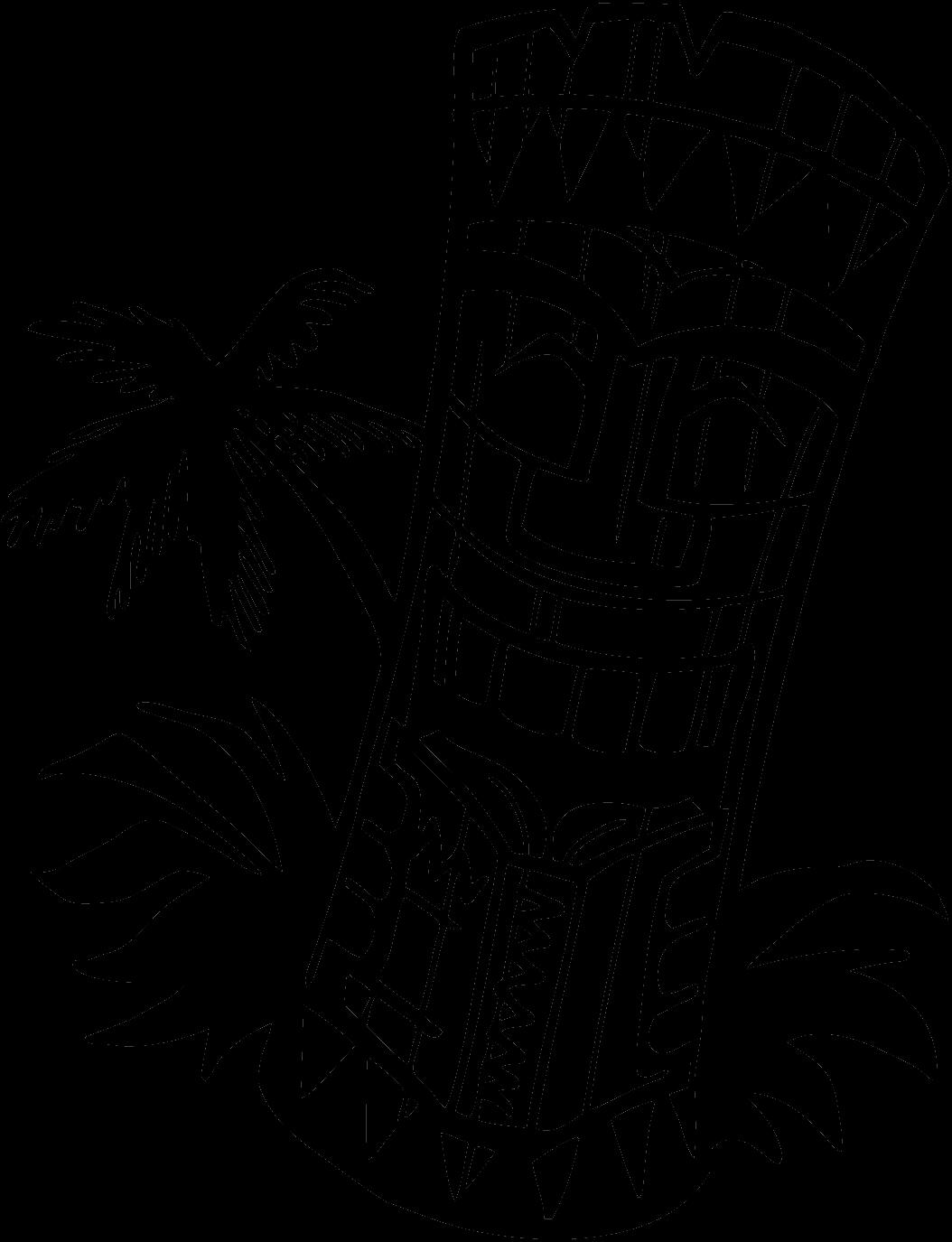 hawaiian tiki clip art black and white native thunderbird art rh pinterest ie tiki hut clipart tiki clipart png