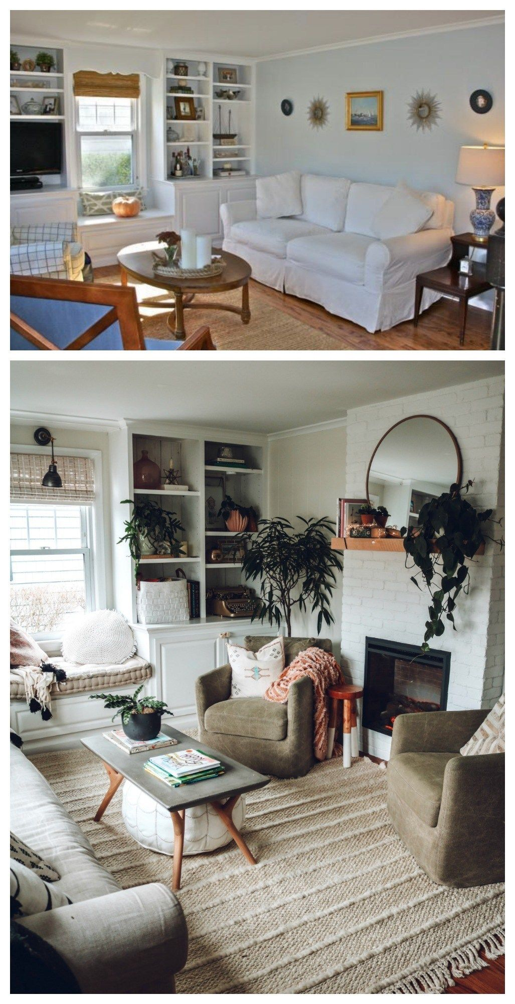 Complete Before And After S 1100 Sq Ft Cape Floor Plan And Future Nesting With Grace Living Room Remodel Small Space Living Room Small Space Living