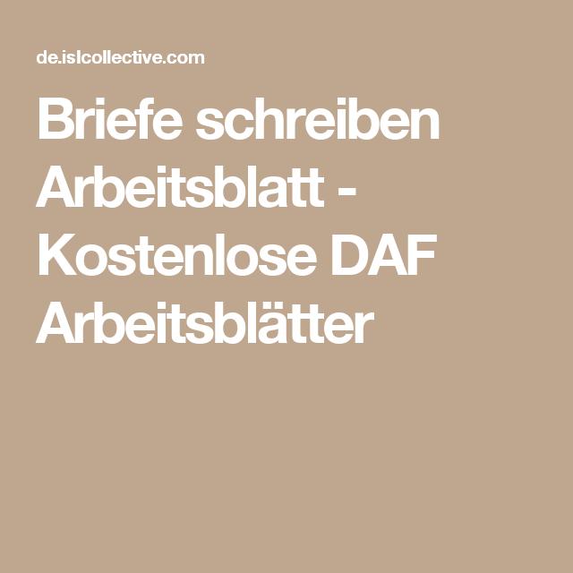 Briefe Schreiben Deutschunterricht Pinterest Schreiben