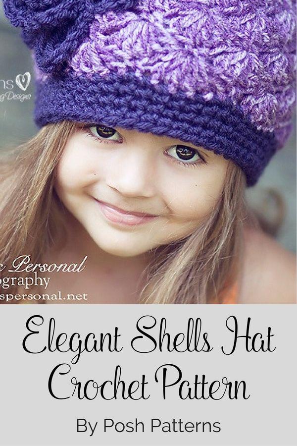 Crochet Pattern Crochet Hat Pattern Shell Stitch Hat Crochet