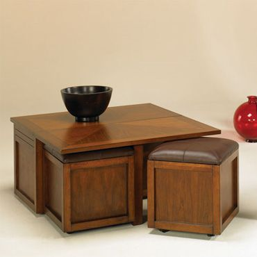 Nuance Lift Top Square Cocktail Table w/ Ottoman