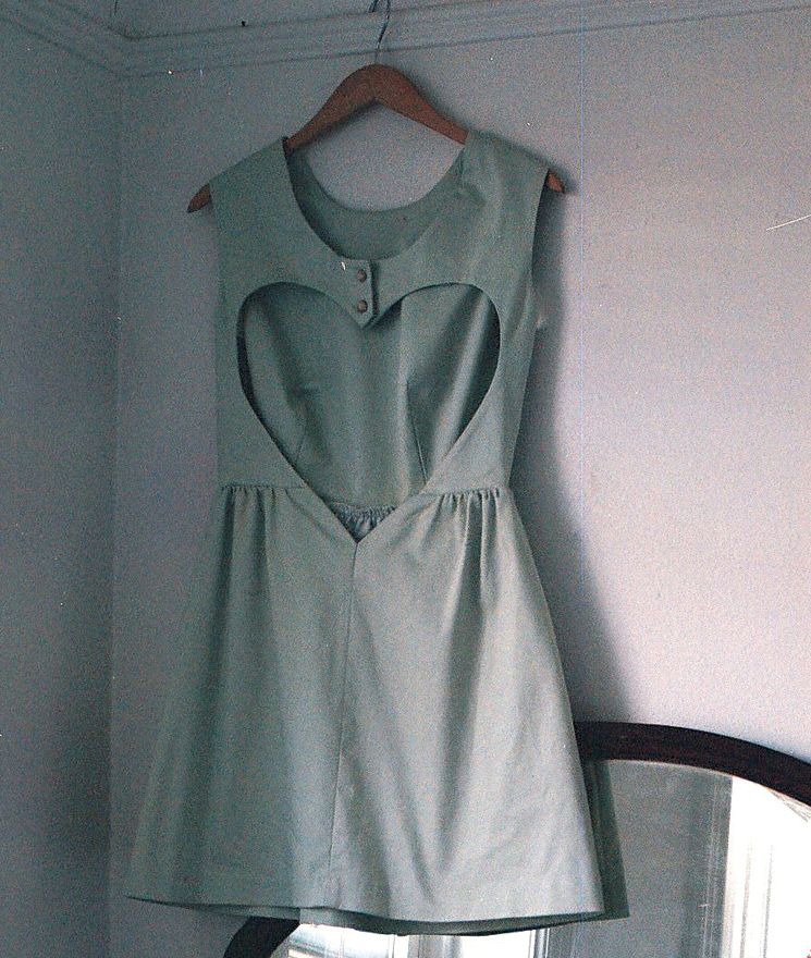 How to make a heart cut-out on a DIY dress.