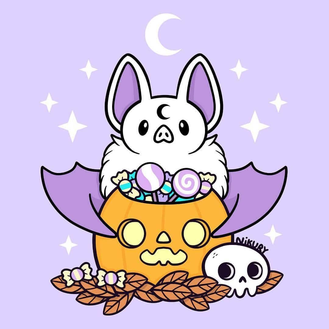 Nikury Trick Or Treat It Starts To Be Soon Late To Do In 2020 Kawaii Drawings Kawaii Halloween Cute Art