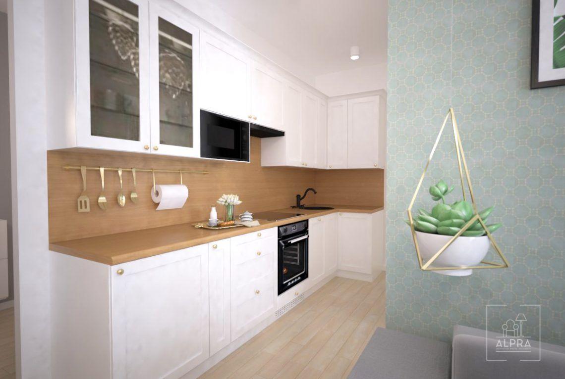 Projekt Kuchni W Malym Mieszkaniu W Krakowie Vanity Double Vanity Studio Flat