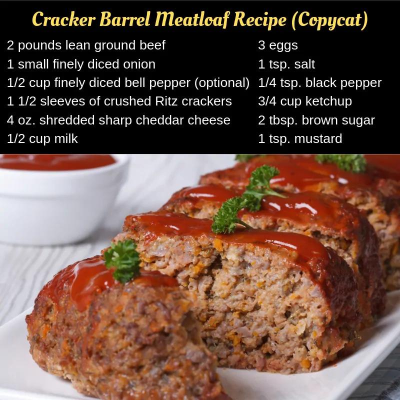 (Secret Recipe) - Cracker Barrel Meatloaf