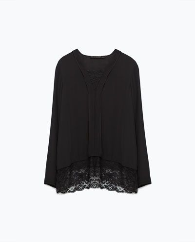 Image 8 of COMBINED LACE TOP from Zara