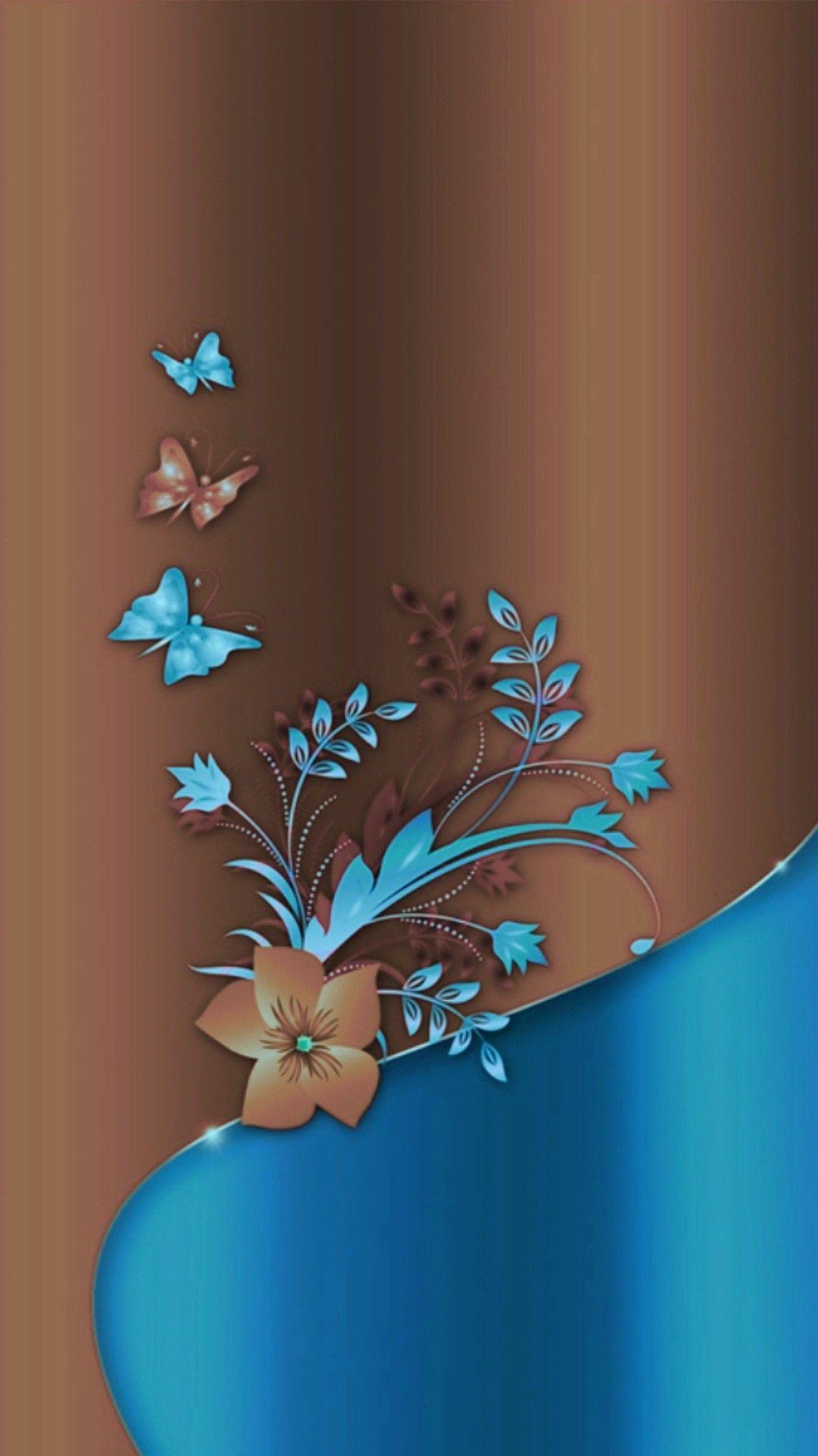 Blue Butterfly...🦋 | Cellphone wallpaper, Flower wallpaper ...
