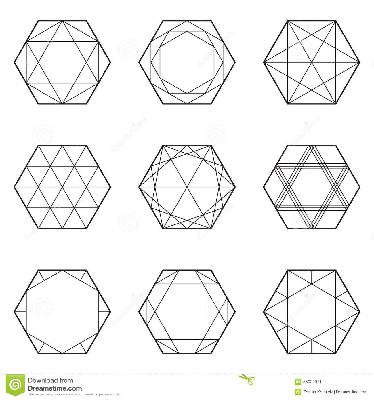 Image Result For Geometric Hexagon