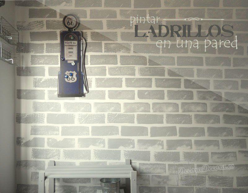 Pintar ladrillos en la pared inspiraci n instec pinterest for Ladrillos falsos decorativos