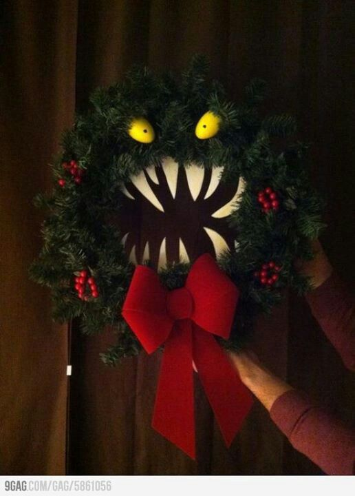 nightmare before christmas wreath - 10 Easy Christmas Ideas If You Are Feeling All Bah Humbug Wreaths
