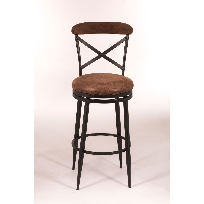 Henderson Black Swivel Bar Stool Hillsdale Furniture Bar Height 28 To 36 Inch Bar Stools Swivel Bar Stools Swivel Counter Stools Bar Stools
