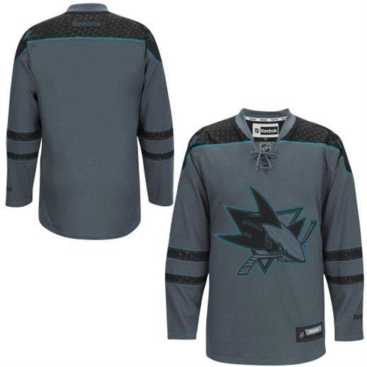 cheap for discount 69734 87577 Reebok San Jose Sharks Storm Cross Check Premier Hockey ...