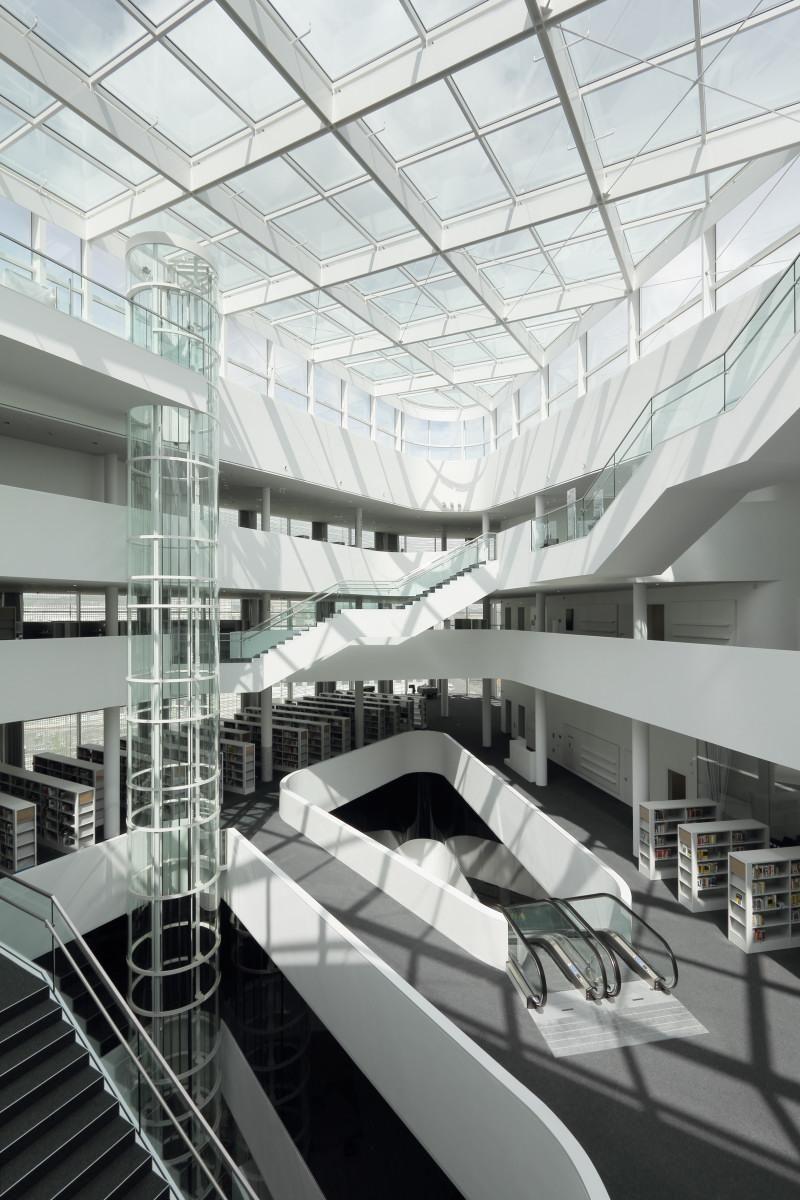 ultra modern interiors. Ultramodern Mall Design With Public Library: Wonderful Kulturbau Forum Confluentes Modern Interior Amazing Decoration Ultra Interiors