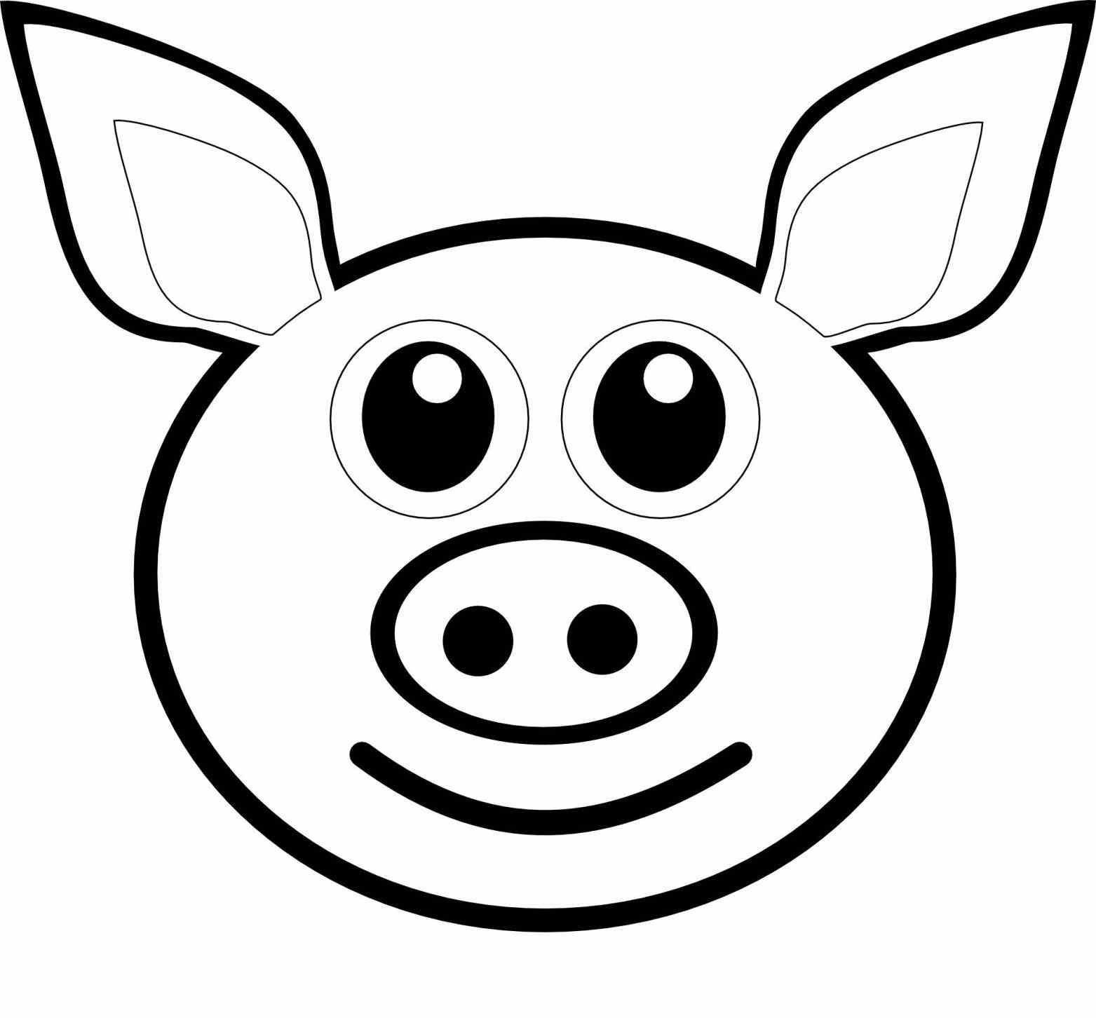 Морда свиньи рисунок