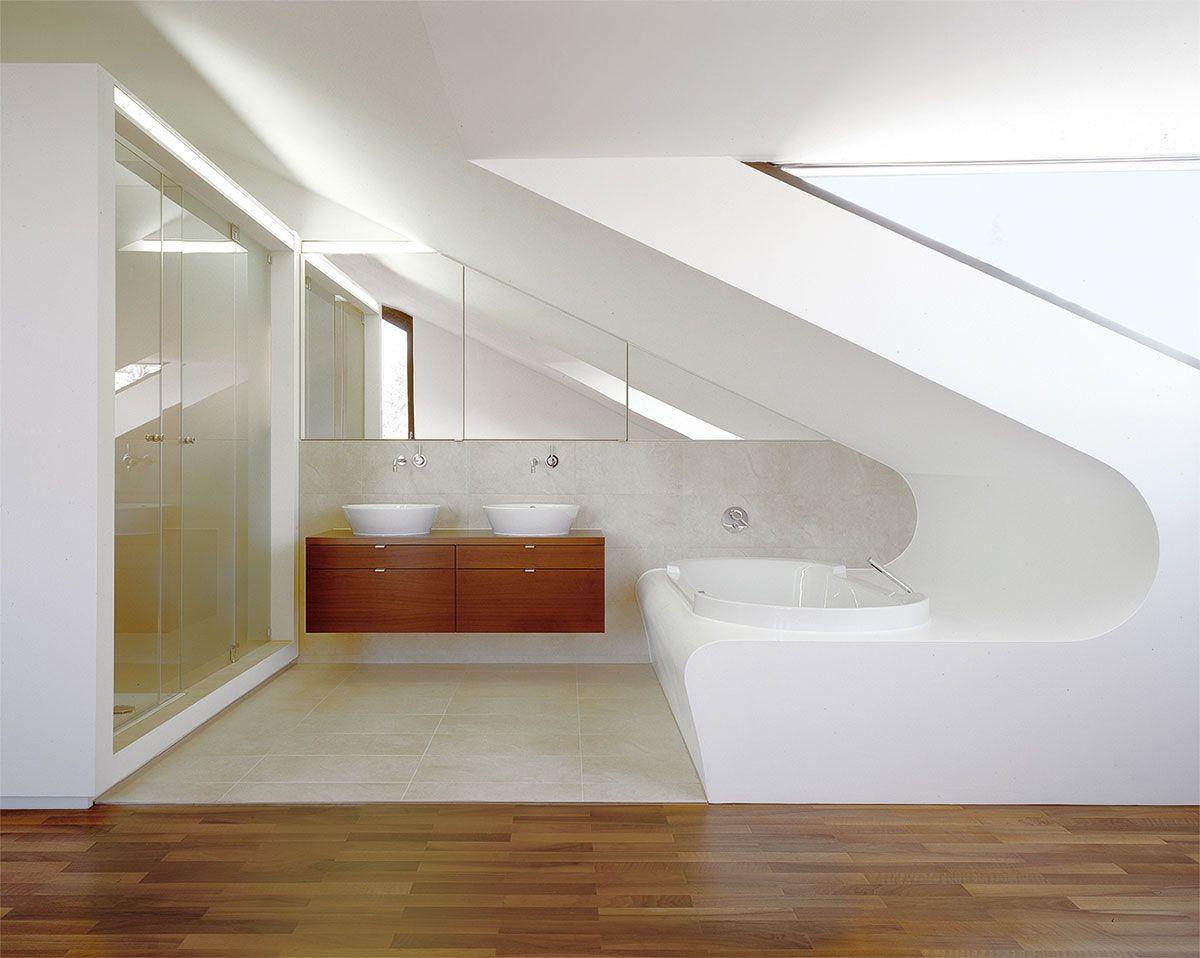 Bad Im Dachgeschoss badezimmer dachgeschoss minibad mit dusche wc und waschplatz
