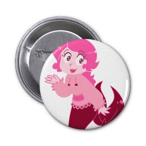 Cute Pink Mermaid Girl