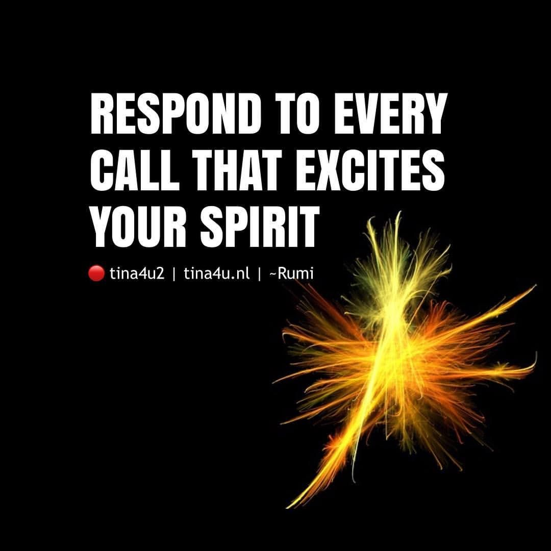 Respond To Every Call That Excites Your Spirit ~Rumi