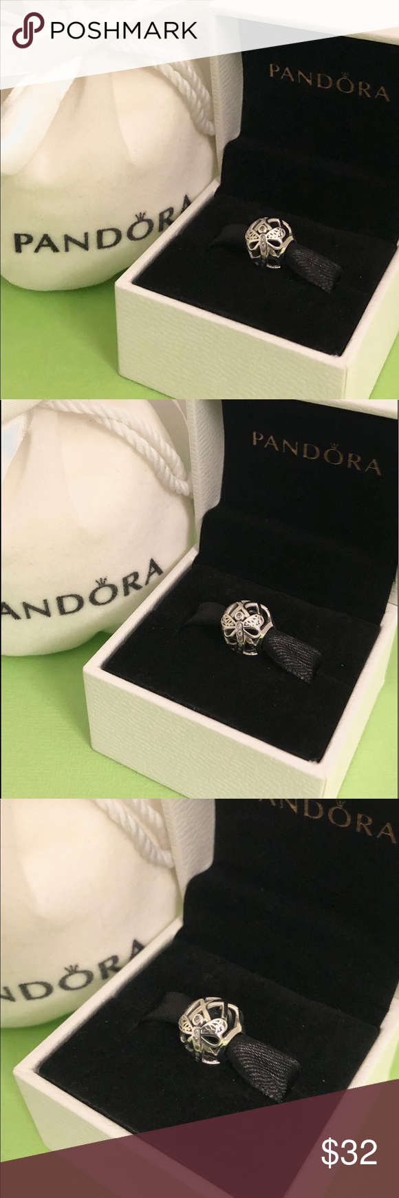 0b8c8b114 New Pandora Silver 🌿Dreamy Dragonfly Charm🌷 New Authentic Pandora Silver  🌿Dreamy Dragonfly 🌿🌷Openwork Charm with Pandora Charm Pouch Authentic ...