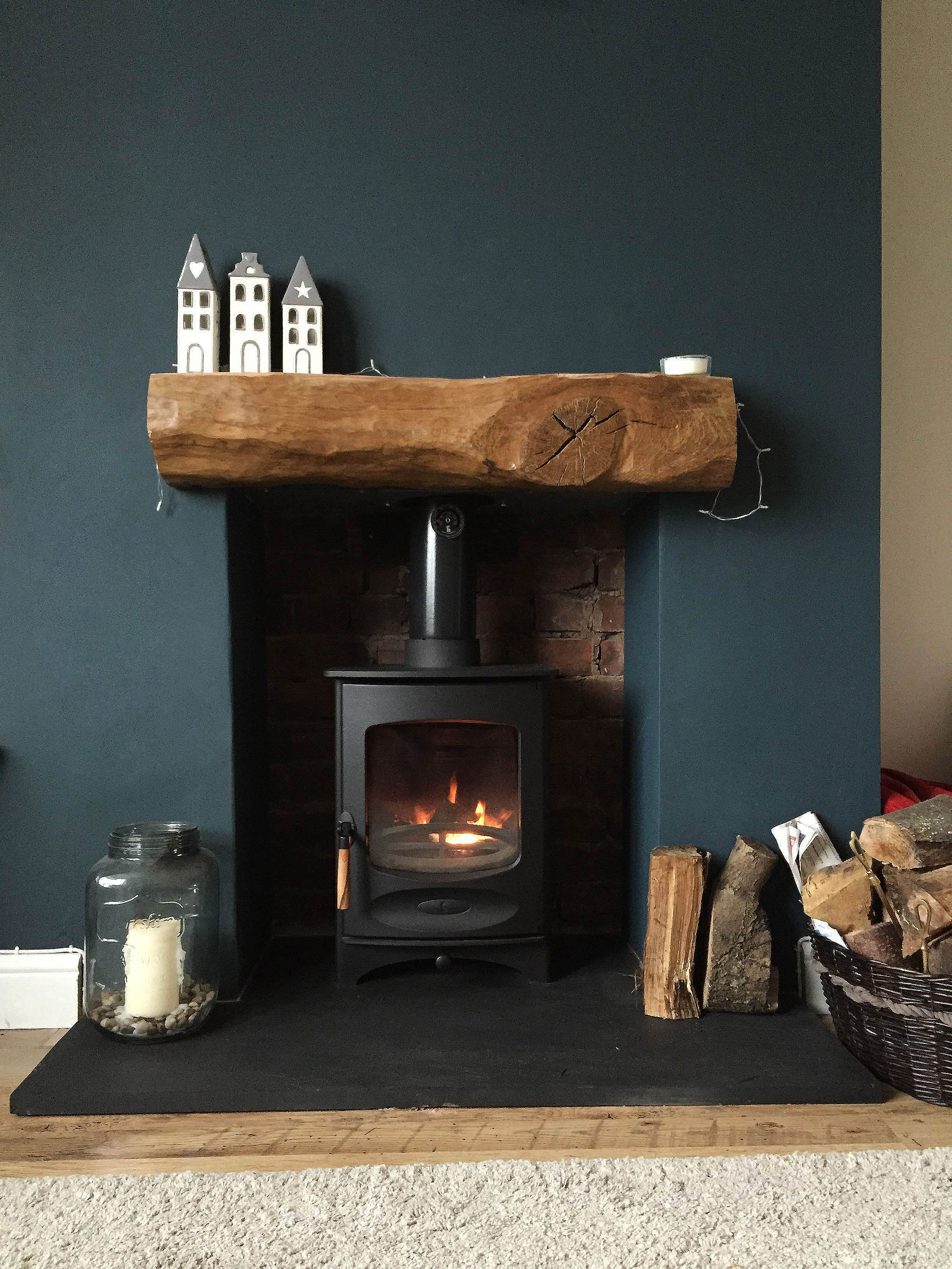 Fireplace Finished | Charnwood C-Four | Riven Slate Hearth ...